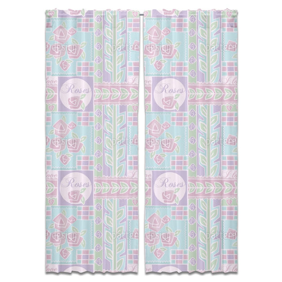 Patchwork Rose Curtains