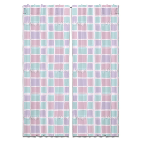 Pastel Frames Curtains