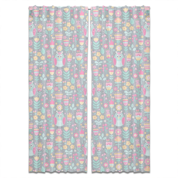 Owls in the Meadows Curtains