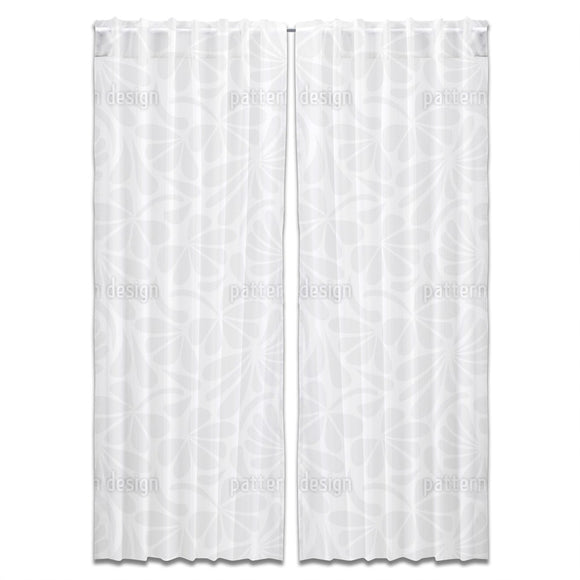 Floral Paleness Curtains