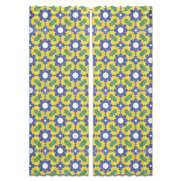 Arabic Floral Mosaic Curtains