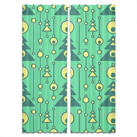 Modernist Christmas Tree Curtains