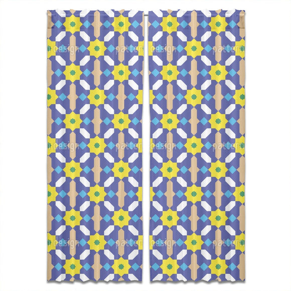 Moorish Flower Lattice Curtains