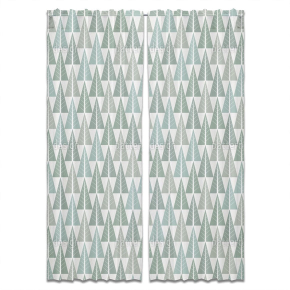 Stylized Winter Forest Curtains