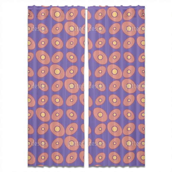 Retro Dotted Curtains