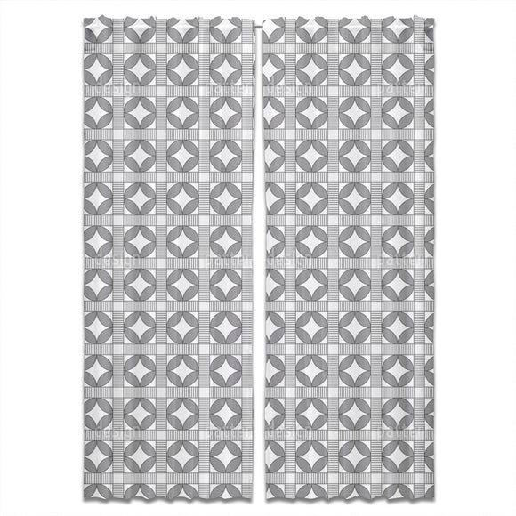 Crosswalk Circles Curtains