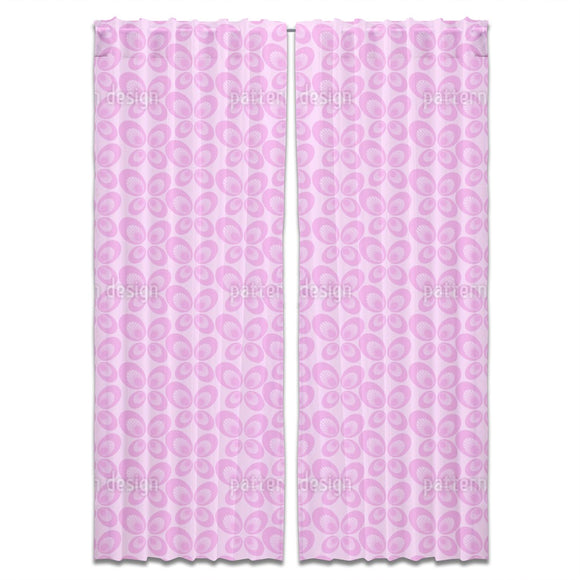 Abstract Retro Butterflies Curtains