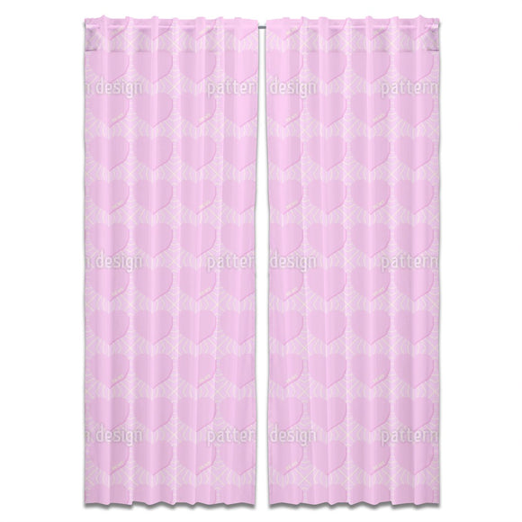 Angular Hearts Curtains