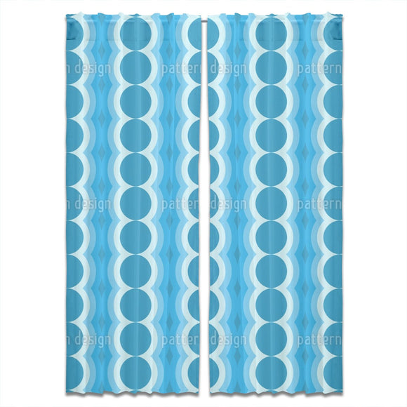 Oscillating Circles Curtains