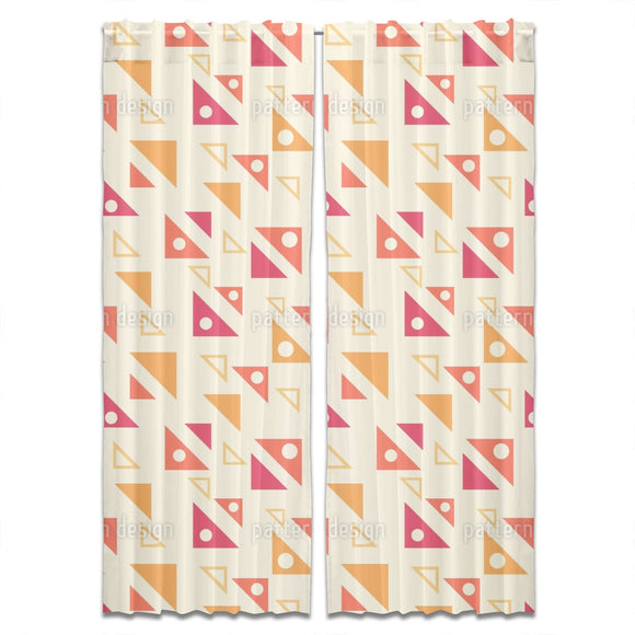 Angled Triangles Curtains