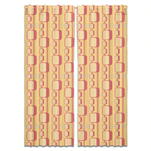 70s Squares Curtains