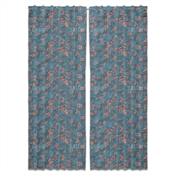 Berries And Florals Curtains