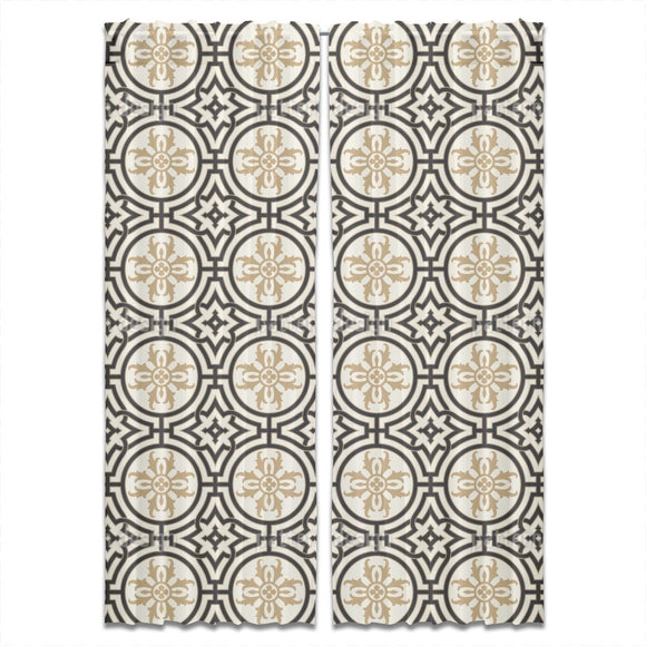 Palace Tiles Curtains