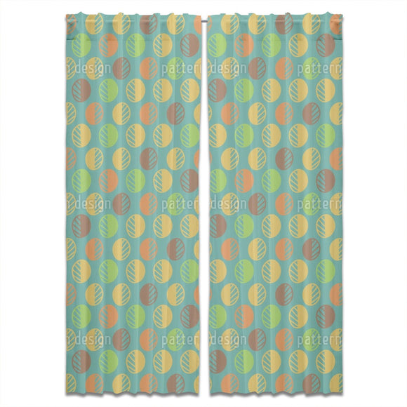 Scandinavian Style Leaves Curtains