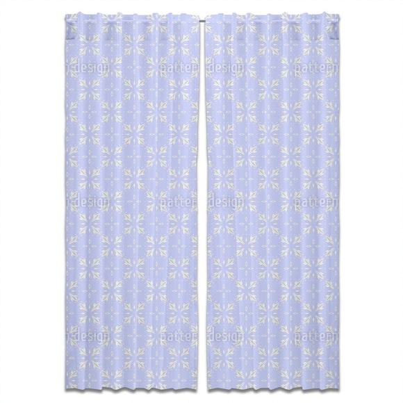 Frosty Vintage Tiles Curtains