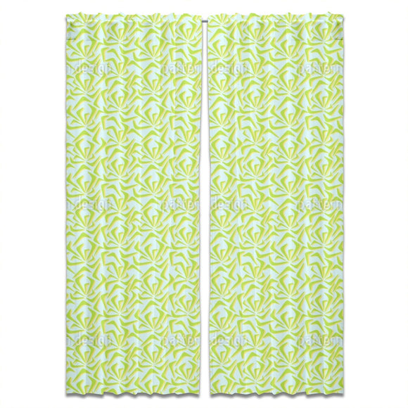 Abstract Summer Pond Curtains