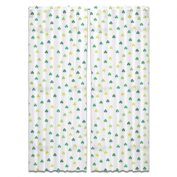 Little Shamrocks Curtains