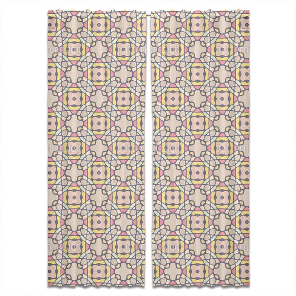 Kaleidoscopic Tiles Curtains