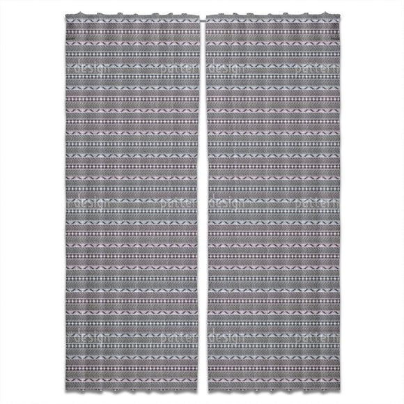 Boho Ethnic Borders Curtains