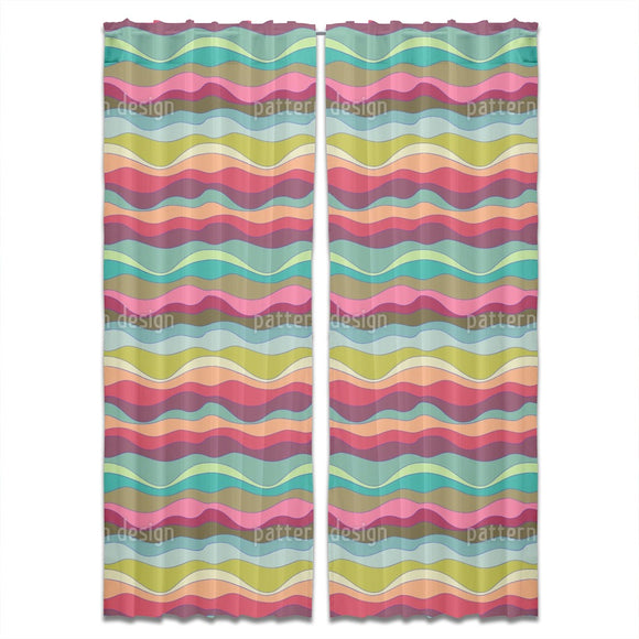 Cheerful Waves Curtains