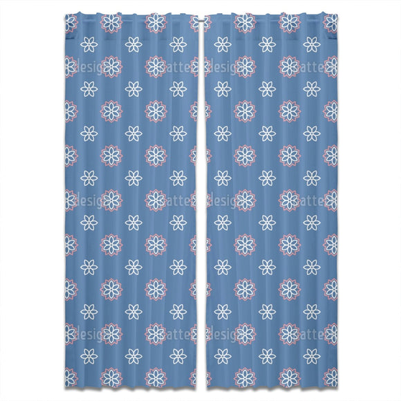 Geo Flower Curtains