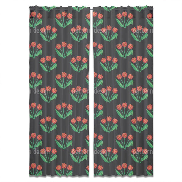 Tulip Flowers Curtains