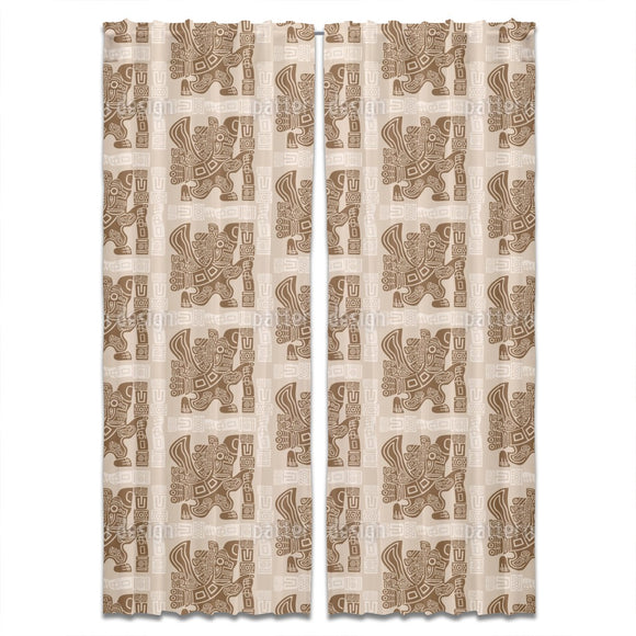 Aztec Eagle Warrior Curtains