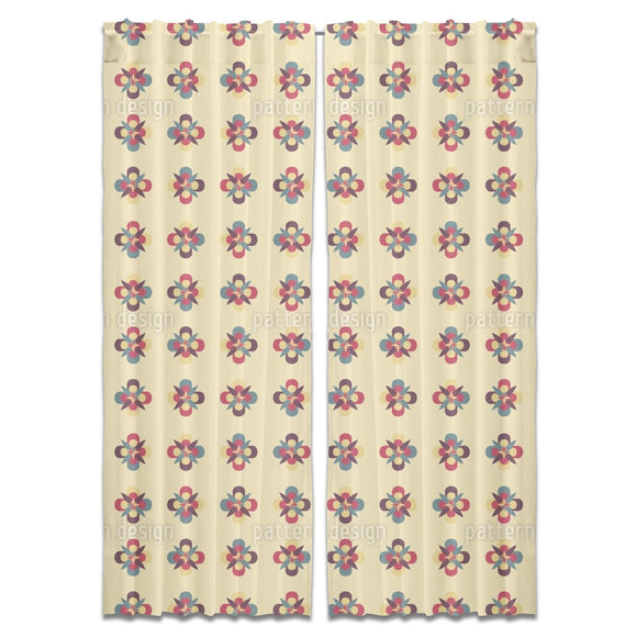 Symmetric Blossoms Curtains