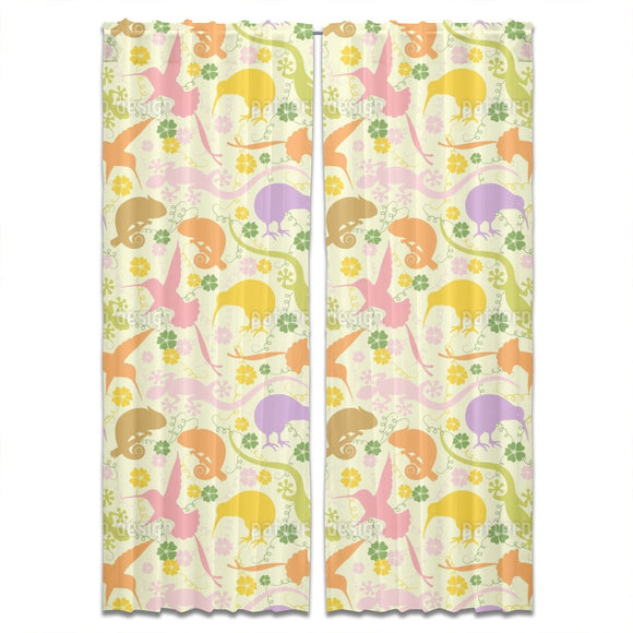 Exotic Animals Curtains