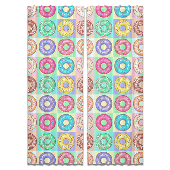 Donuts Pop Art Curtains