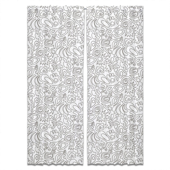 Lined Forms Curtains