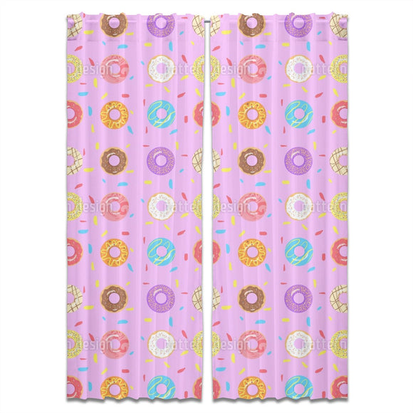I Need More Donuts Curtains