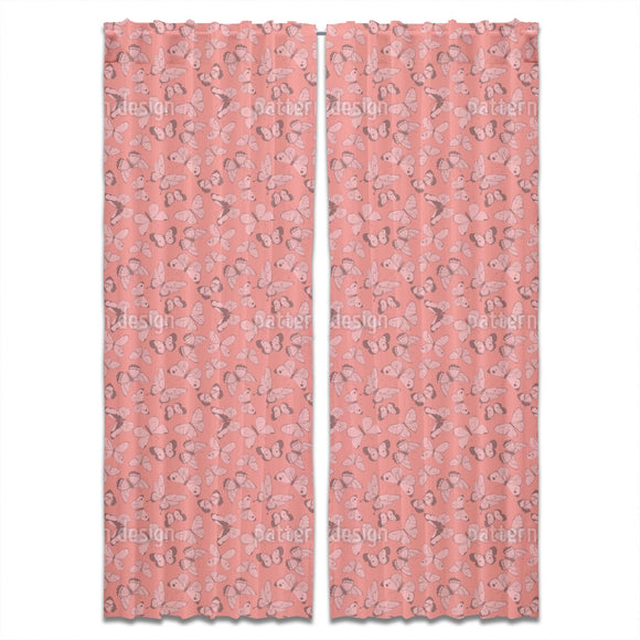Butterfly Illustrations Curtains