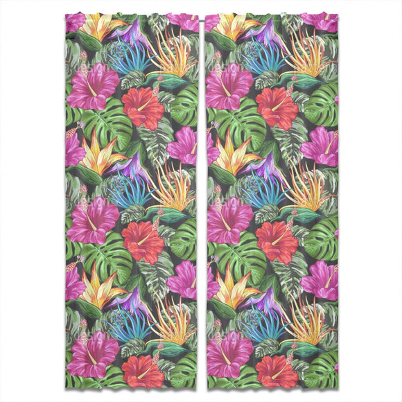 Tropical Flora Summer Mood Curtains