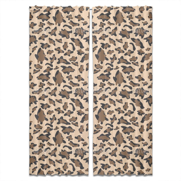 Leopard Camouflage Curtains