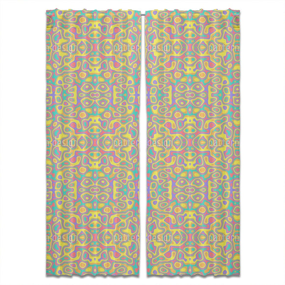 Hippie Kaleidoscope Curtains