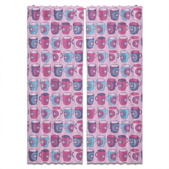 Mandala Mugs Curtains