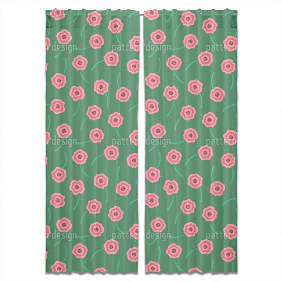 Cute Scattered Flowers Curtains