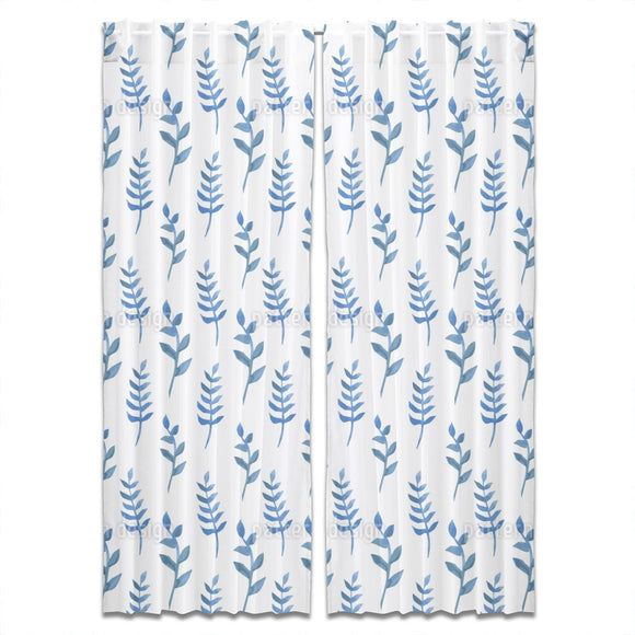 Watercolor Branches Curtains