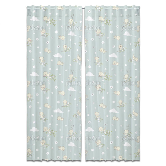 Little Baby Birds Curtains