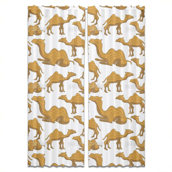 Camel Woodcarving Curtains