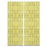 Asian Lattice Yellow Curtains