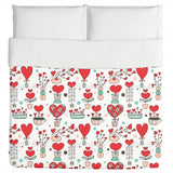 Cute love flowers Duvet