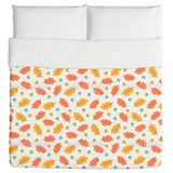 Autumnal Leaves In Cool Breeze Duvet
