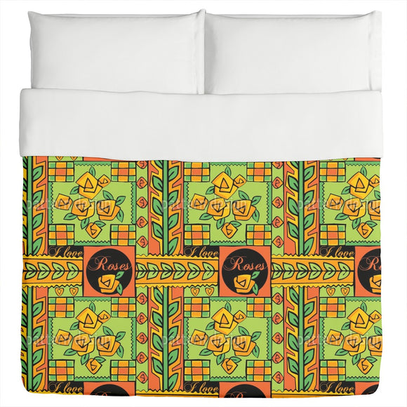 Patchwork With Roses Duvet
