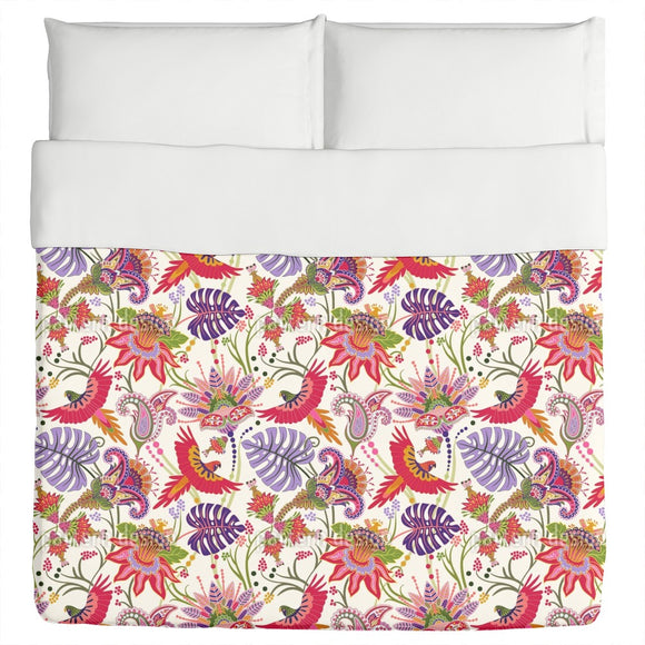 Fantastic Jungle With Birds Duvet