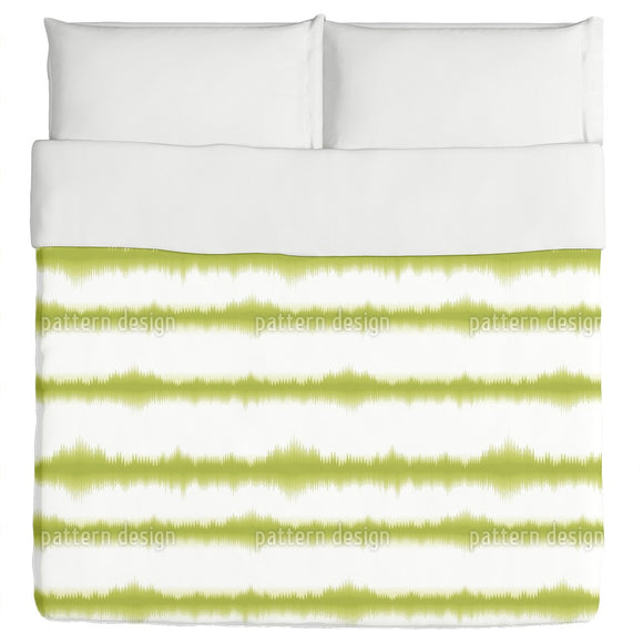 Batik Stripes Green Duvet