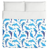 Dolphins In Water Color Duvet