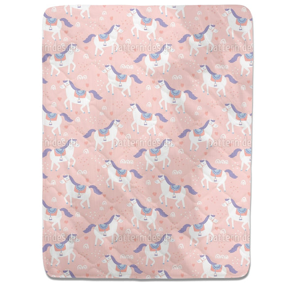 Cute Horses Fitted Sheets