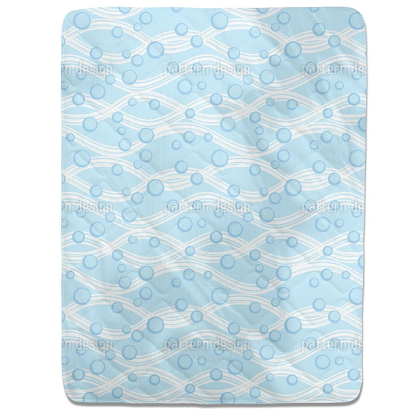 Waves And Bubbles Fitted Sheets